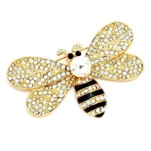 "Jewelry - 3.5"" Across Large Bumble Bee Brooch Pin"